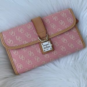 Dooney & Bourke Pink canvas and leather wallet